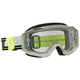 Gray/Yellow Hustle MX Goggles w/Clear Lens - 262592-1120113