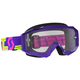 Purple/Yellow Hustle MX Goggles w/Clear Lens - 262592-4984113