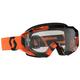 Black/Orange Hustle MX Goggles w/Clear Lens - 262592-1009113