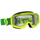Yellow/Green Hustle MX Goggles w/Clear Lens - 262592-2489113