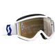 White Recoil XI Goggles w/Gold Chrome Lens - 262596-1030324