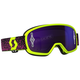 Youth Yellow/Pink Buzz Pro Goggles w/Purple Chrome Lens - 262602-4758281