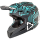 Gray/Teal GPX 5.5 Composite V11 Helmet