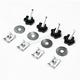 Hog Knobz Saddlebag Security Fasteners - HW133002