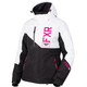 Women's Black/White Track/Fuchsia Fresh Jacket