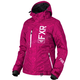 Women's Wineberry Track/White Fresh Jacket