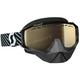 Black/White Hustle Snowcross Goggles w/Light Sensitive Bronze Chrome Lens - 262582-1007245