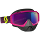 Purple/Yellow Hustle Snowcross Goggles w/Amp Teal Chrome Lens - 262582-4984315
