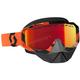Black/Orange Hustle Snowcross Goggles w/Amp Red Chrome Lens - 262582-1009312