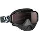 Black/White Hustle Snowcross Goggles w/Amp Silver Chrome Lens - 262582-1007313