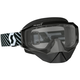 Black/White Hustle Snowcross Goggles w/Clear Lens - 262582-1007043