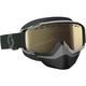 Black/White Split OTG Snowcross Goggles w/Light Sensitive Bronze Chrome Lens - 262586-1007245