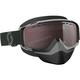 Black/White Split OTG Snowcross Goggles w/Amp Silver Chrome Lens - 262586-1007016