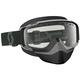Black/White Split OTG Snowcross Goggles w/Clear Lens - 262586-1007043