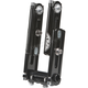 Black 5 3/4 to 8 1/4 in. Adjustable Tech Risers - SR-34-T