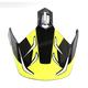 Hi-Viz Neon/Black Visor for HJC DS-X1 Lander Helmets - 512-939