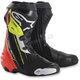 Black/Red/Fluorescent Yellow Supertech R Boots