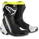 Black/White/Flo Yellow Supertech R Boots