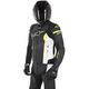 Black/White/Flo Yellow Missile Leather Jacket