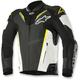 Black/White/Flo Yellow Atem Leather Jacket v3