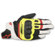 Black/Fluorescent Yellow/White/Fluorescent Red SP-5 Leather Gloves