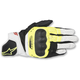 Black/Fluorescent Yellow/White SP-5 Leather Gloves