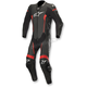 Black/Red Missile 1-Piece Leather Suit