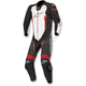 Black/White/Flo Red Missile 1-Piece Leather Suit