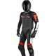 Black/White/Flo Red Challenger 1-Piece Leather Suit v2