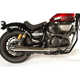 Chrome 2-Into-1 Reverse Cone Exhaust System - 004-0950RC