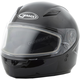 Youth Black GM49Y Snowmobile Helmet w/Dual Lens Shield