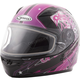 Youth Pink/Purple/Black GM49Y Celestial Snowmobile Helmet w/Dual Lens Shield