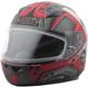 Youth Flat Black/Red  GM49Y Trooper Snowmobile Helmet w/Dual Lens Shield