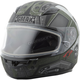 Youth Flat Black/OD Green GM49Y Trooper Snowmobile Helmet w/Dual Lens Shield