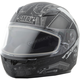 Youth Flat Black/Silver GM49Y Trooper Snowmobile Helmet w/Dual Lens Shield