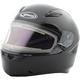 Black FF49 Snowmobile Helmet w/Electric Shield