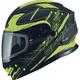 Black/Hi-Vis Yellow MD01 Wired Modular Snowmobile Helmet w/Electric Shield - G2014234 TC24 ELEC