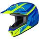 Youth Blue/Hi-Viz Green CL-XY II Bator MC-3H Helmet