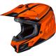 Orange/Red CL-X7 Bator MC-7 Helmet
