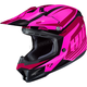 Pink/Red CL-X7 Bator MC-8 Helmet