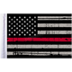 Grunge USA 9x6 Firefighter Thin Red Line Motorcycle Flag - FLG-GTRL-US