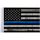 Grunge USA 9x6 Police Thin Blue Line Motorcycle Flag - FLG-PTBL-US