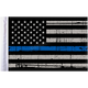 Grunge USA 10x15 Police Thin Blue Line Motorcycle Flag - FLG-PTBL-US15