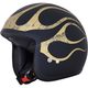 FX-75 Matte Black/Gold Flame Helmet