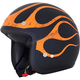 FX-75 Matte Black/Orange Flame Helmet