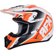 Pearl White/Orange FX-17 Force Helmet