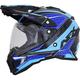 Black/Blue/Light Blue FX-41 DS Eiger Helmet