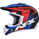 Matte Black/Red/White/Blue FX-17Y Youth Holeshot Helmet