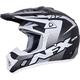 Frost Grey/BlackWhite  FX-17Y Youth Holeshot Helmet