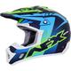 FX-17Y Navy Blue/Green/Blue Holeshot Helmet